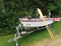 15 FOOT SMOKERCRAFT c/w 25 hp Yamaha and Trailer