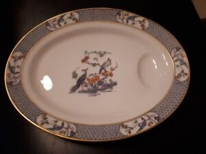 Limoges Theodore Haviland Rajah serving plate with dipped end