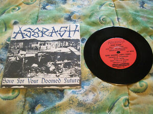 assrash-save for your doomed future 7# rare hardcore punk crust
