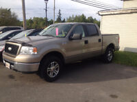 2006 FORD F150, 4X4 WITH FREE 2 YEAR UNLIMITED KILOMETER WARRANT