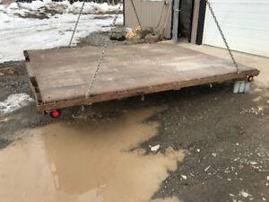 Heavy duty steel truck deck