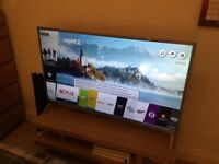 LG 49 inch 4K Ultra HD Smart TV - Near new