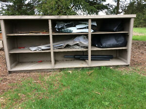 Heavy storage shelves for barn or shop