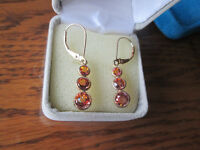 Earings - Gold and Saphire (gold/orange saphire)