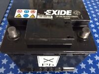 EXCIDE CAR BATTERY, NEARLY NEW.,