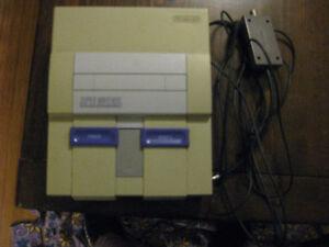 Super Nintendo Console w/ Mario wolrd (read description)