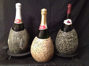 Natural stone wine chillers