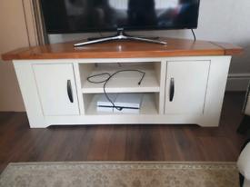 Wooden corner TV stand