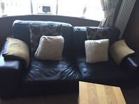 Large 4 Seater Leather Sofa DFS