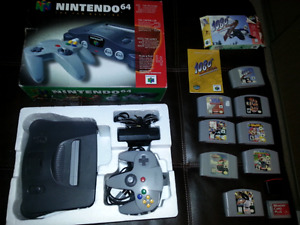 nintendo 64 console cib and games for sale