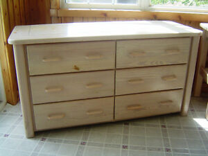 Double Dresser with Mirror, Solid Wood