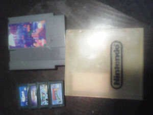 Nes game Gameboy advance game plus nes case