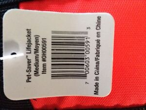 Dog life jacket med NWT Kitchener / Waterloo Kitchener Area image 2