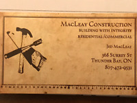MacLeay Construction is  now booking for the upcoming season
