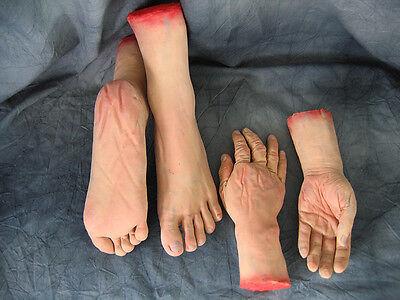 Latex KÖRPERTEILE Hände,Füße, BODY PARTS Hands,Feet, Horror, Halloween HQ Effect