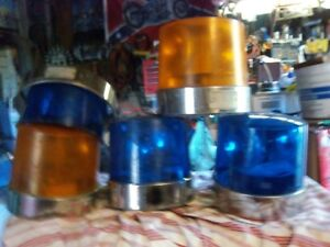 HEAVY EQUIPTMENT  AMBER/ BLUE 12 VOLT LIGHTS