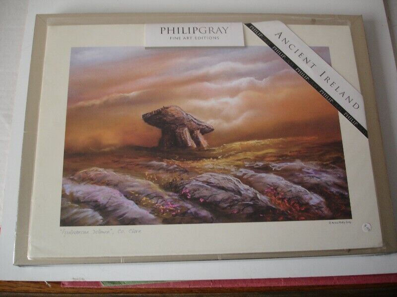 Philip Gray Print Framed 'Poulnabrone Dolmen' Co. Clare New