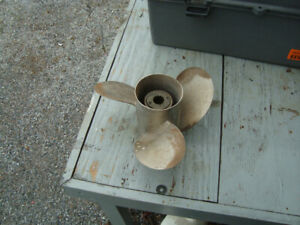 never used stainless three blade quicksilver propellor