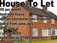 3/4 bedroom house to rent Chichester