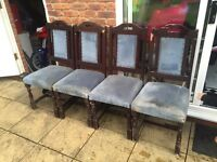 VINTAGE SHABBY CHIC RESTORATION CHAIRS WITH STUDS -NOT SOFA TABLE BED £80 ONO