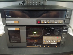 RARE .. Stereo system, Cassette player  and Turntable