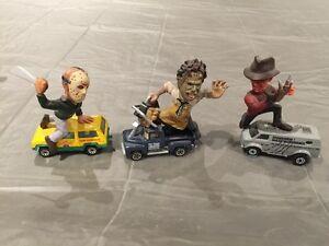 Horror icon Jason Freddy Leatherface matchbox cars