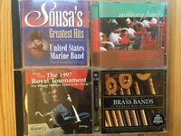 Military Music CDs (FIVE CDs)