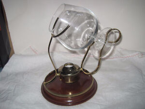 Copper and Brass Brandy Snifter and Warmer Set