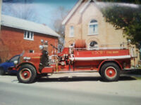1928 Buffalo Fire Engine in Good Running Condition Many Extras
