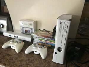 Xbox 360 with Kinnect and 320 GB slim drive added - $350.00 obo