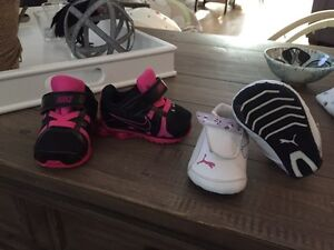 Puma and Nike Baby Girl Shoes