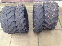 Selling a Full Set of 4 Carlisle A.C.T. 26 inch Radial ATV tires