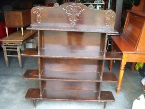 antique wooden store shelf