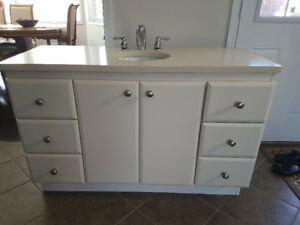 Vanity with marble top 49/19,