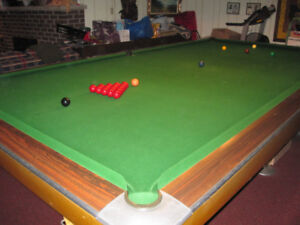 Authentic Pool Hall Size Snooker Table