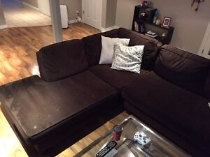 Brown Sectional Couch Kitchener / Waterloo Kitchener Area image 3