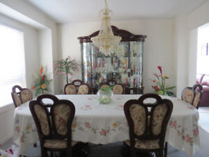 table and chairs china cabinet