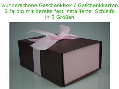 Geschenkkarton / Geschenkbox Bi-Colour / BRAUN - ROSA 56 in 3 Größen