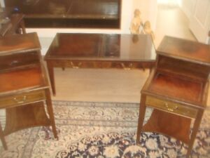 COFFEE TABLE SET / SOLID WOOD- ANTIQUE