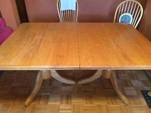 Solid Oak Table & Chairs Cambridge Kitchener Area image 1