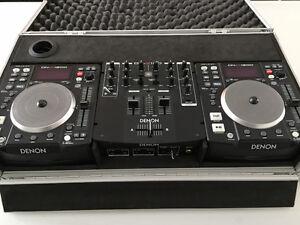 Tables DJ+mixer+case