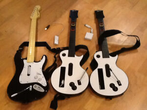 NEW GUITARS for Rock Band NIntendo Wii....