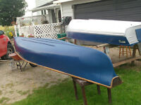 16 foot square back canoe newly painted and new rails  750.00
