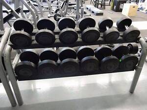 6 Technogym Dumbbell Pairs Plus a Rack Altona North Hobsons Bay Area Preview
