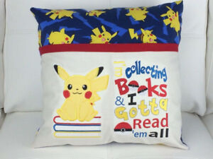 NEW: Reading Pocket Pillows -personalized child's name(option)