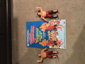WWF LJN Wrestling Figures with Posters Rare WWE