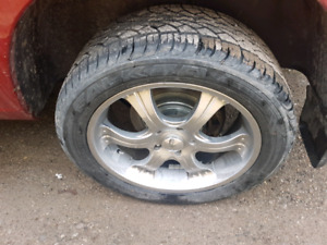 ram 1500 2012  22 inch wheel and tires mint