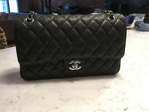 Chanel Jumbo double flap- Balck caviar with silver hardware