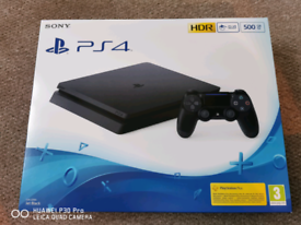 Brand New & Sealed Sony PS4 Slim New Look 500gb Jet Black Console
