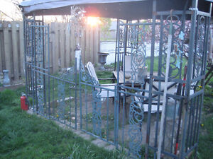 WROUGHT IRON BARN GATE AND SUPPORTS